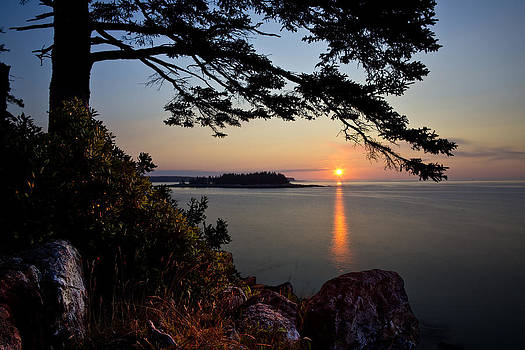 Sunrise at Schoodic 0681 by Brent L Ander