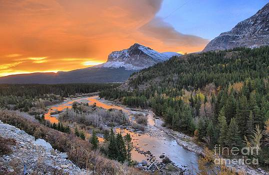 Adam Jewell - Sunrise At Swiftcurrent Creek