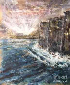 Sunrise at Tal-Gurdan Cliffs by Marco Macelli