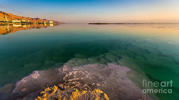 Sunrise at the Dead Sea by Jacki Soikis