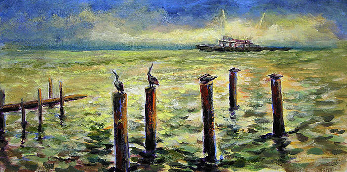 Sunrise at the inlet by Julianne Felton 2-24-14 by Julianne Felton