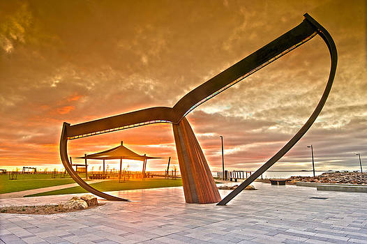 Sunrise at the Whale Tail by Sally Nevin