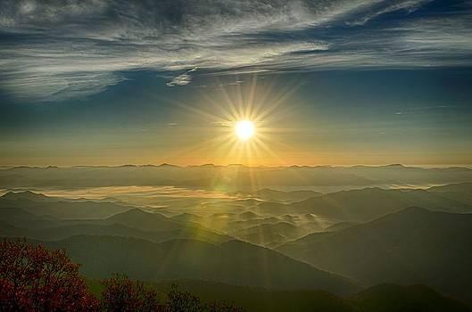 Sunrise from Wayah Bald by Eric Haggart