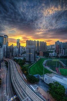 Sunrise in Hong Kong by Mike Lee