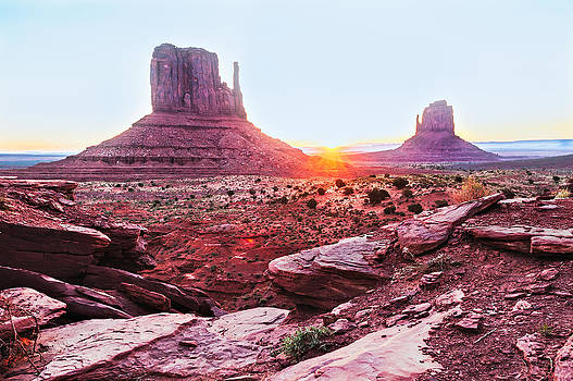 Sunrise in Monument Valley by Kay Price