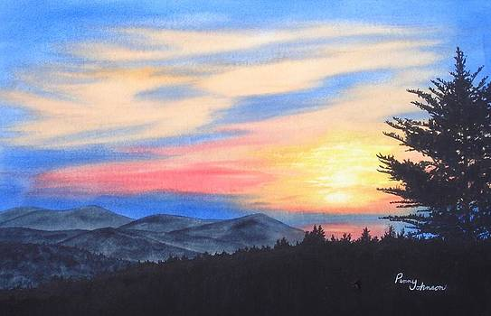 Sunrise In The Mountains by Penny Johnson