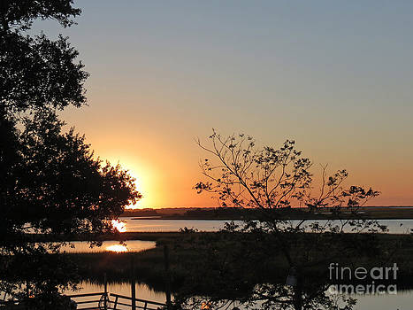 Sunrise is Calling On NC Waterway  by Crissy Anderson