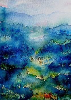 Sunrise Misty Woodland  by Trudi Doyle