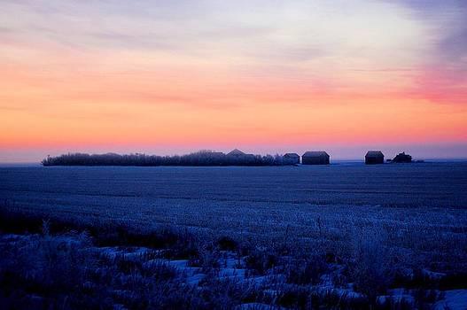 Sunrise on the Farm by Don Mann