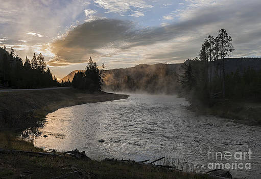 Sandra Bronstein - Sunrise on the Madison River - Yellowstone