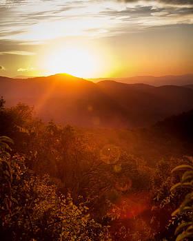 Sunrise over Asheville II by Lynne Jenkins