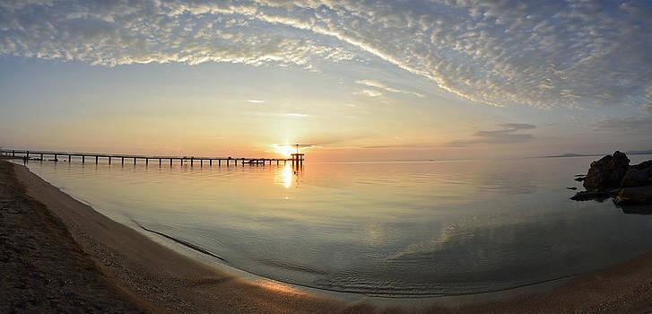 Sunrise over Burgas Bay by Dimitar Rusev