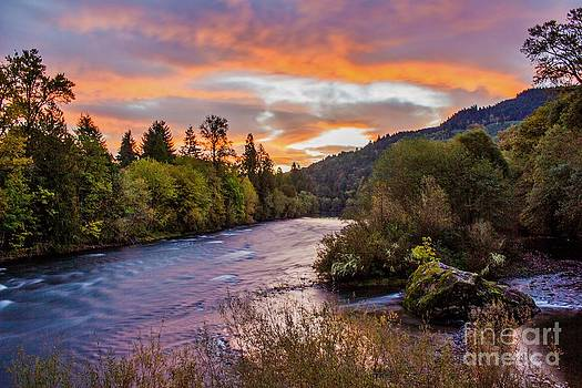 Sunrise over McKenzie by Michael Cross