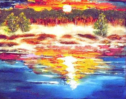Sunrise over Misty Lake by Meyer Van Rensburg
