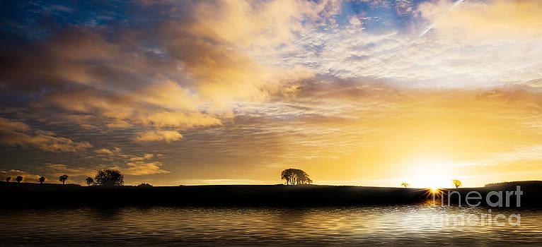 Simon Bratt Photography LRPS - Sunrise over silouette landscape