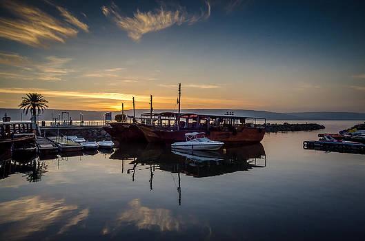 David Morefield - Sunrise over the Sea of Galilee