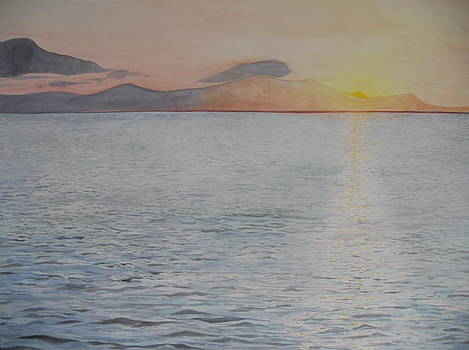 Sunrise Over Tinos by Jan Eckardt Butler