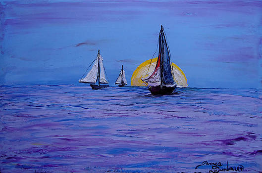Sunrise Sails 2 by Portland Art Creations