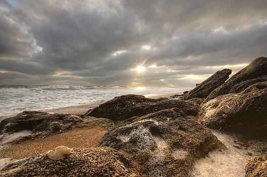 Sunrise Surf on the Rocks by DM Photography- Dan Mongosa