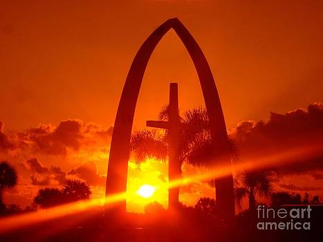 Orange Sky On The Cross by Bob Sample