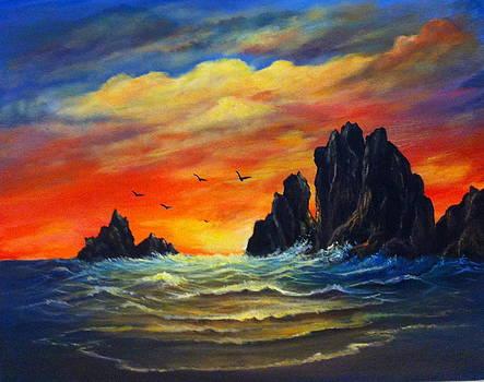 Sunset 2 by Bozena Zajaczkowska