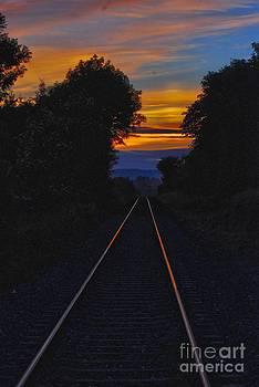 Joe Cashin - Sunset along the tracks