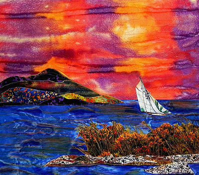 Sunset And A Fair Wind by Maureen Wartski
