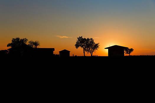 Sunset and Farm  Alliance NE by Troy Montemayor