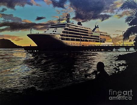 Sunset Arrival by Kelvin James