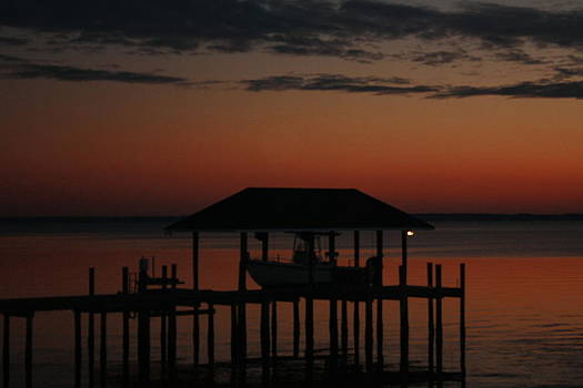Sunset at Boathouse by James Lawson