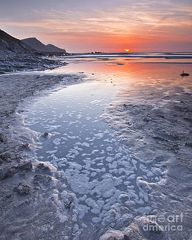 Sunset at Crackington Haven by Julian Elliott
