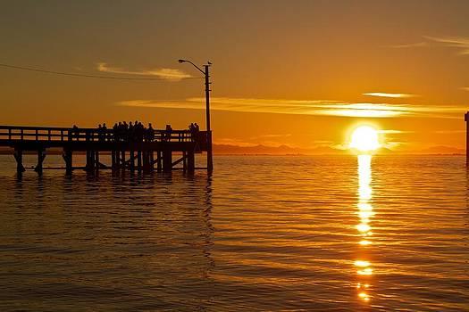 Sunset at Crescent Beach by Scott Holmes