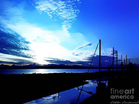 Sunset at Edmonds Washington Boat Marina by Eddie Eastwood