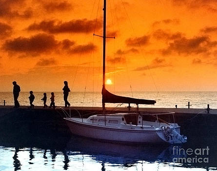 Sunset At Egg Harbor Dock Wisconsin by ImagesAsArt Photos And Graphics