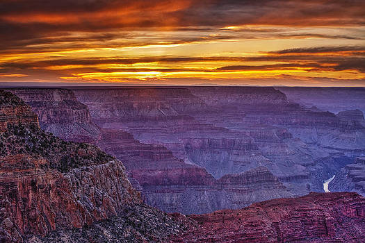 Sunset at Grand Canyon by Andrew Soundarajan