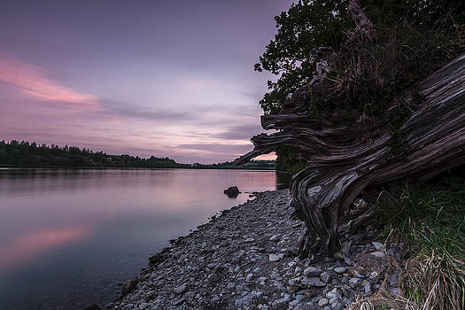 Sunset at Inniscarra  by M I