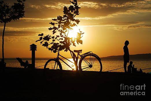 Joe Cashin - Sunset at lake Balaton