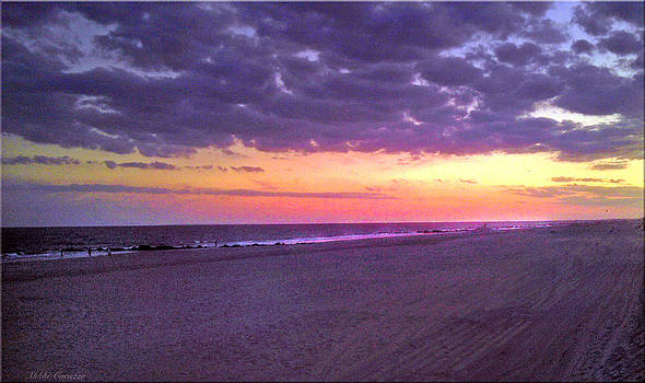 Sunset at Long Beach NY by Mikki Cucuzzo