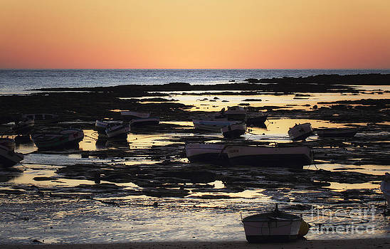 LHJB Photography - Sunset at Low Tide in Cadiz