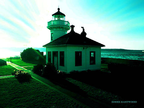 Sunset at Mukilteo Lighthouse Park  by Eddie Eastwood