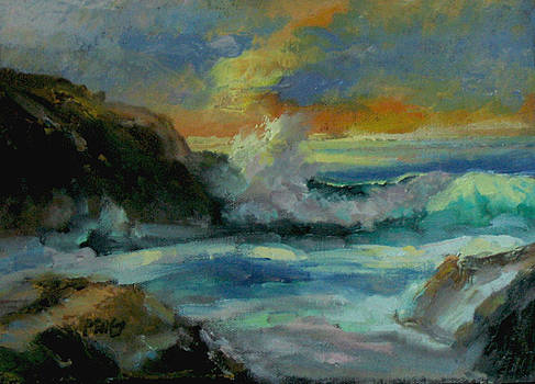 Sunset at the Beah by Patricia Seitz