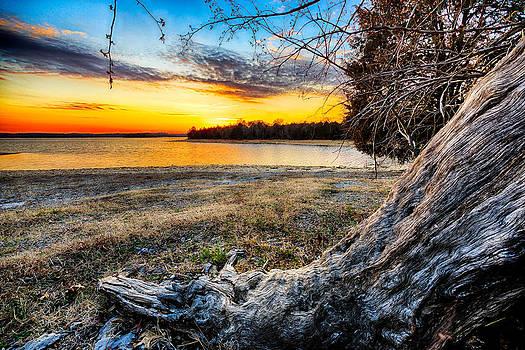 Sunset At The Lake by John Zocco
