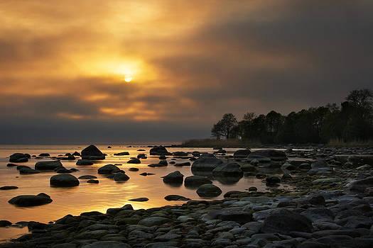 Sunset at the sea by Anna Grigorjeva
