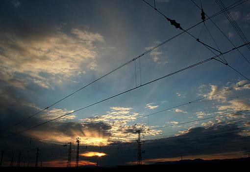 Sunset At Train Station by Dimitar Smilyanov