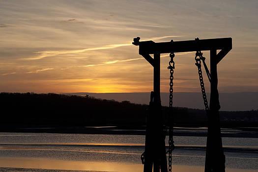 Sunset Barge  by Eugene Bergeron