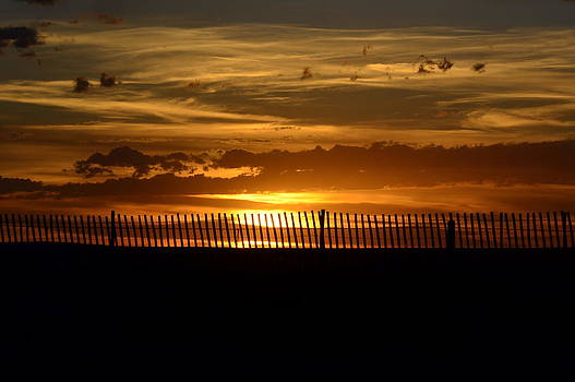 Sunset Beyond The Fence by Clarice  Lakota