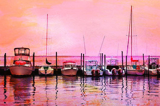 Sunset Boats by Laura Fasulo