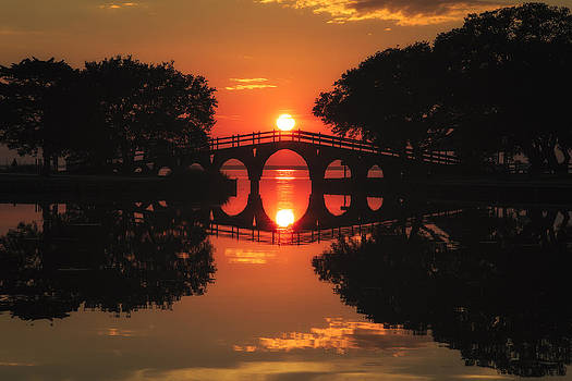 Sunset Bridge by Nick Oman