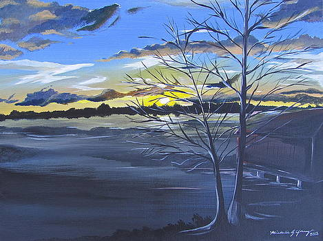 Sunset by Lake Wheeler by Michelle Young