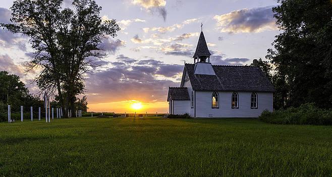 Sunset church by Nebojsa Novakovic